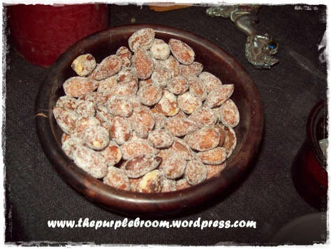 Some sugared honey roasted almonds.