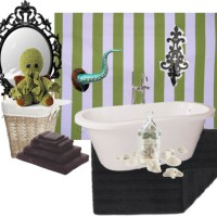 The Witch's Cottage: Goth Home Decoration -Cthulhu Bathroom