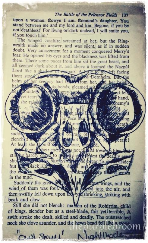 """""""Terror""""- Owl Skull"""